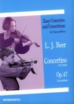 Beer, Concertino in e minor, Notenausgabe