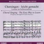 Beethoven,L.: Missa Solemnis D-Dur op. 123, CD Chorstimme Alt