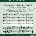 Mozart,W. A.: Missa c-Moll KV 427 (417a), CD Chorstimme Bass