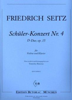 Seitz, Schüler-Konzert Nr. 4, op. 15, D-Dur, Notenausgabe