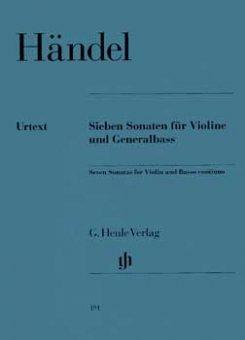 Händel, 7 Sonaten für Violine und Generalbass, Notenausgabe