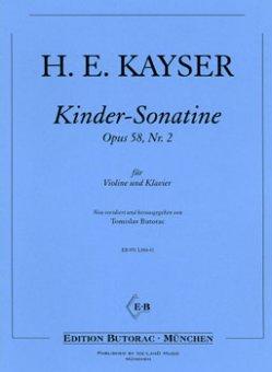 Kayser, Kinder-Sonatine, Notenausgabe