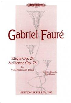 Fauré, Elegie op. 24, Notenausgabe
