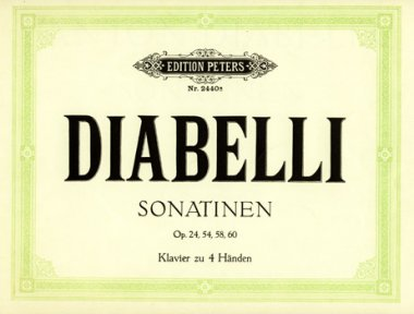 Diabelli, Sonatinen, Notenausgabe