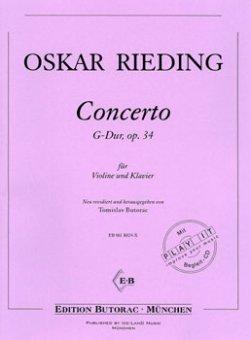 Rieding, Concerto op. 34, G-Dur, Noten & CD