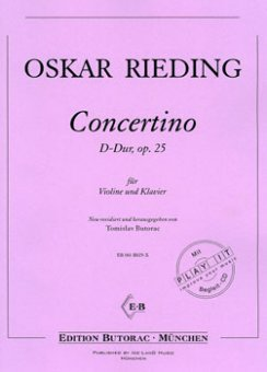 Rieding, Concertino op. 25, D-Dur, Noten & CD