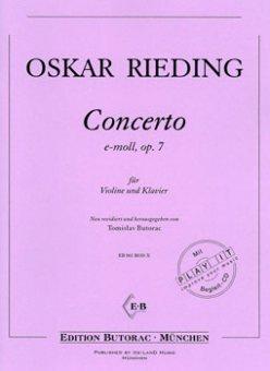 Rieding, Concerto op. 7, e-moll, Noten & CD