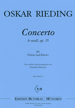 Rieding, Concerto op. 35, h-moll, Notenausgabe