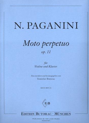 Paganini, Moto perpetuo, op. 11, Notenausgabe