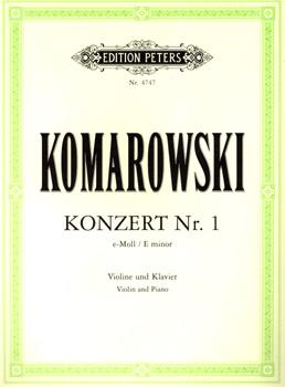 Komarowski, Konzert Nr. 1, Notenausgabe