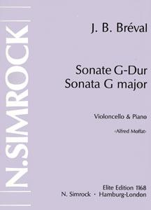 Bréval, Sonate G-Dur, Notenausgabe