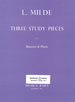 Milde, Three Study Pieces, Notenausgabe