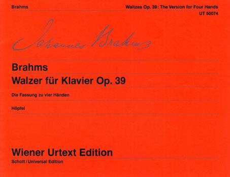 Brahms, Walzer für Klavier op. 39, Notenausgabe