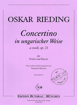 Rieding, Concertino op. 21, a-moll, Noten & CD
