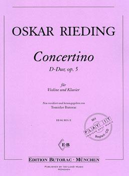 Rieding, Concertino op. 5, D-Dur, Noten & CD