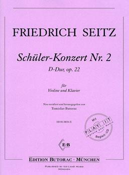 Seitz, Schüler-Konzert Nr. 2, op. 22, D-Dur, Noten & CD
