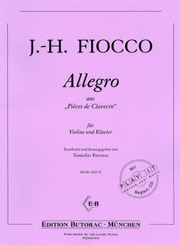 "Fiocco, Allegro aus ""Pieces de Clavecin"", Noten & CD"