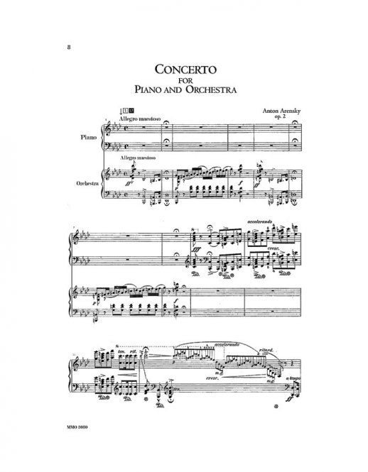 ARENSKY Concerto for Piano in F major, op. 2 (2 CD set) (2 CDs)